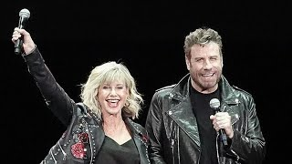 John Travolta And Olivia Newton-John Reunite In Iconic 'Grease' Costumes For First Time In 4 Decade