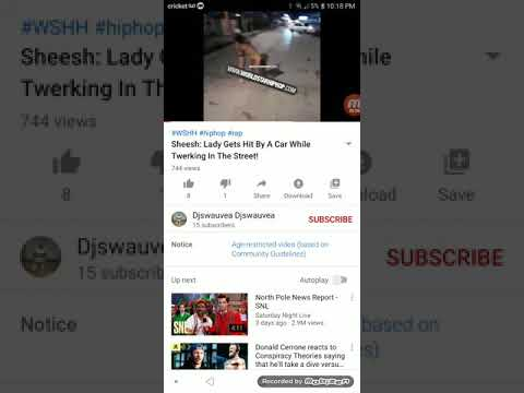 Dumb Harlot Gets Hit By A Car While Twerkin Lmao KAL HALAL YAHAWAH BA HA SHAM YAHAWASHI