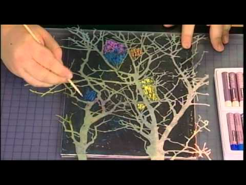 Create Mixed Media Scratch Art with Cray Pas Oil Pastels