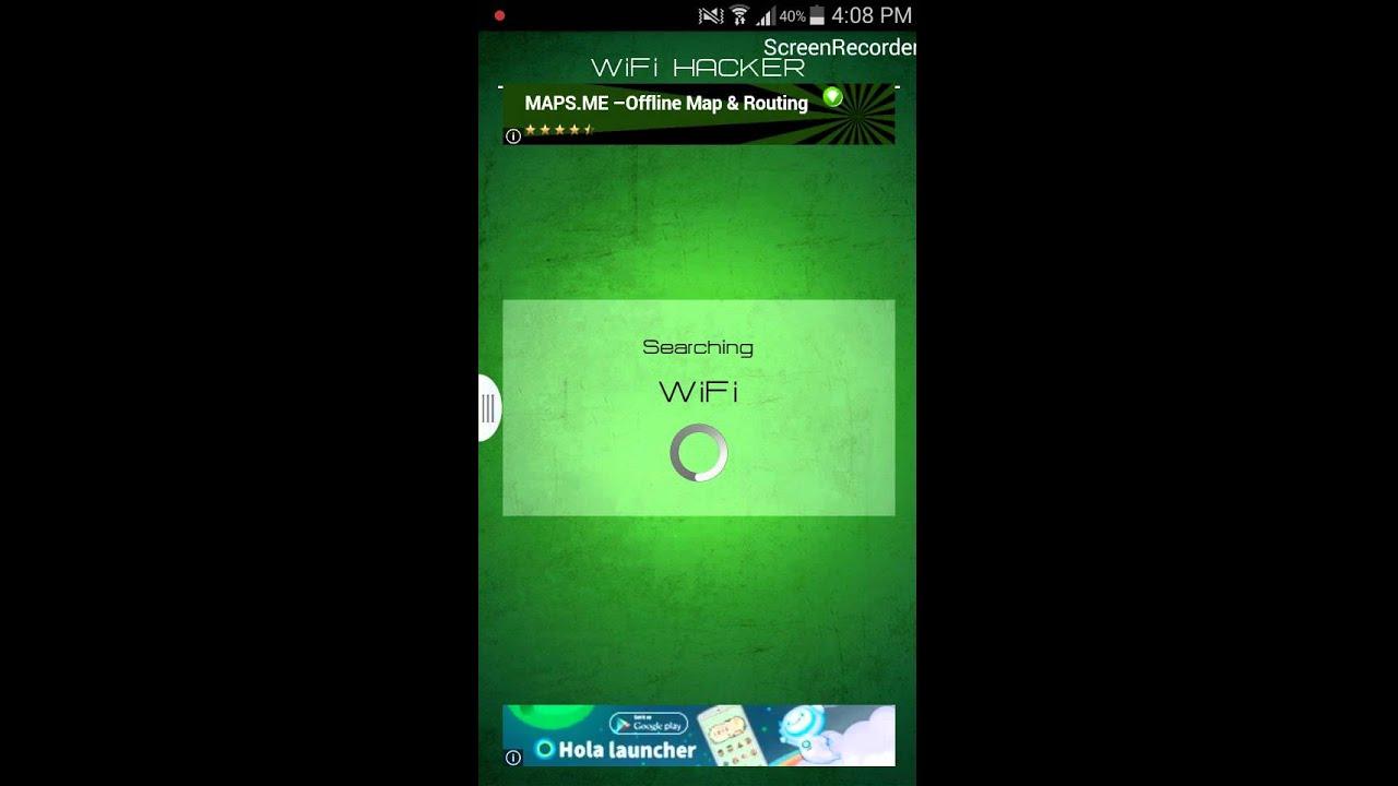 Wifi password hacker prank on Android