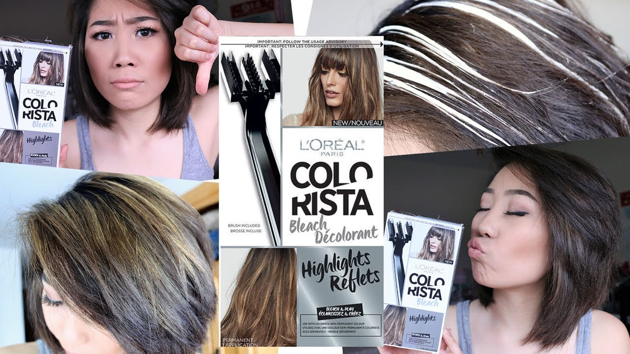 How To Do Highlights At Home Diy Highlight Colorista Kit By Loreal