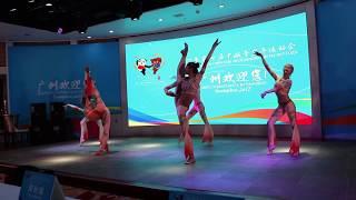 Закрытие VII Российско-Китайских игр (китайские гимнастки)