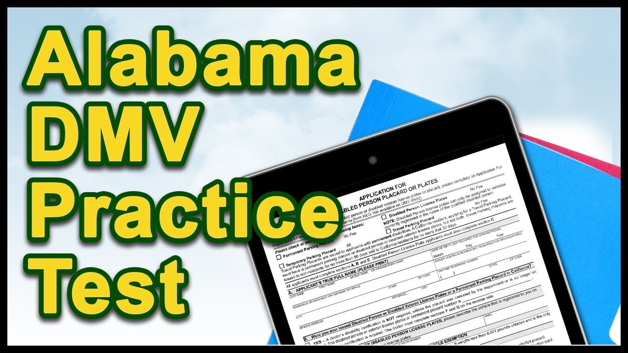 Alabama DMV Practice Test - YouTube