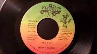 "Burro Banton - Tek A Set - Massive B 7"" (Cuss Cuss Riddim)"