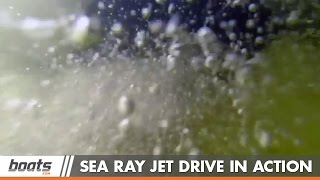 Underwater View of the Sea Ray Jet Drive in Action