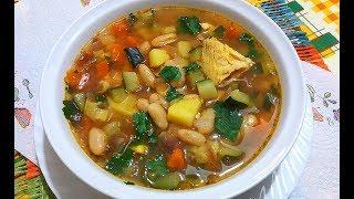 Куриный Суп с Фасолью /Очень Вкусно и Просто!