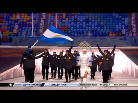 Team Argentina Sochi Olympics Games 2014 Opening Ceremony Entrance