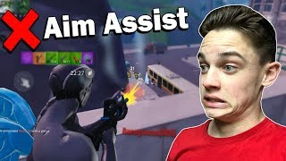 Using No Aim Assist on Fortnite Mobile