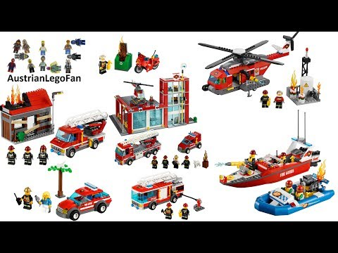 All Lego City Fire Sets 2013 - Lego Speed Build Review