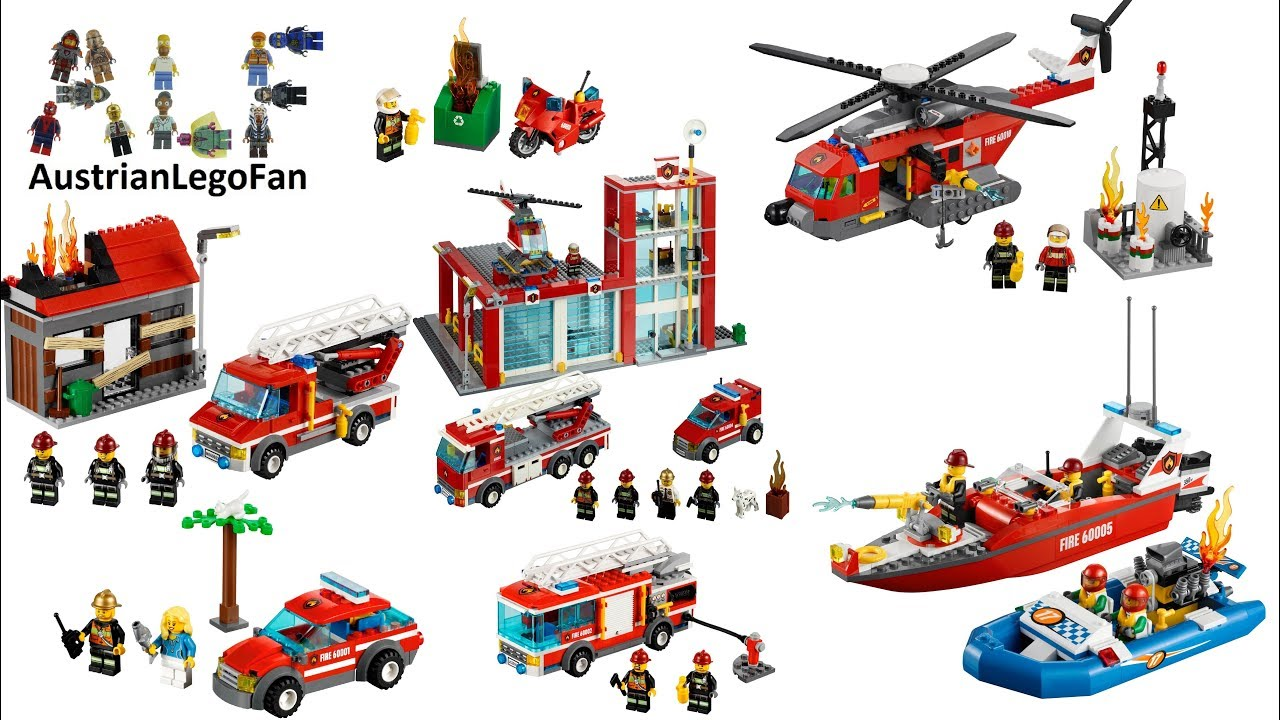 All Lego City Fire Sets 2013 - Lego Speed Build Review ...