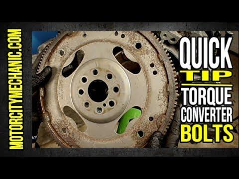 Quick Tip: Installing Torque Converter Bolts