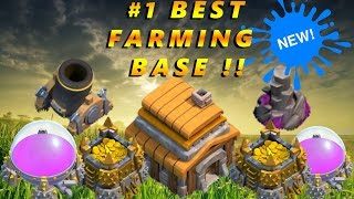 Clash of Clans NEW Best TH5 Farming Base [2016] !!