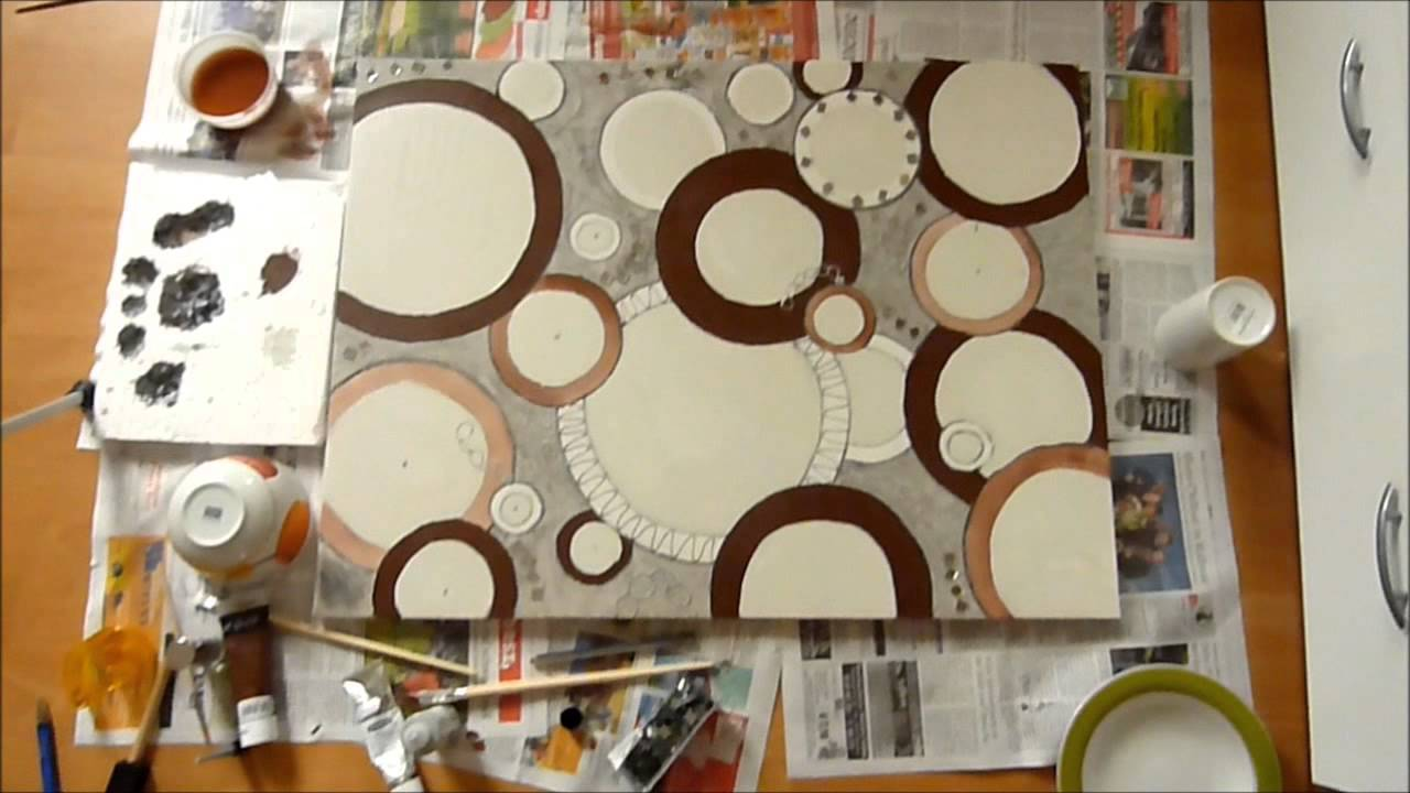 Wohnzimmer bilder selber malen  Malen mit Trixi (Acryl auf Leinwand) - YouTube