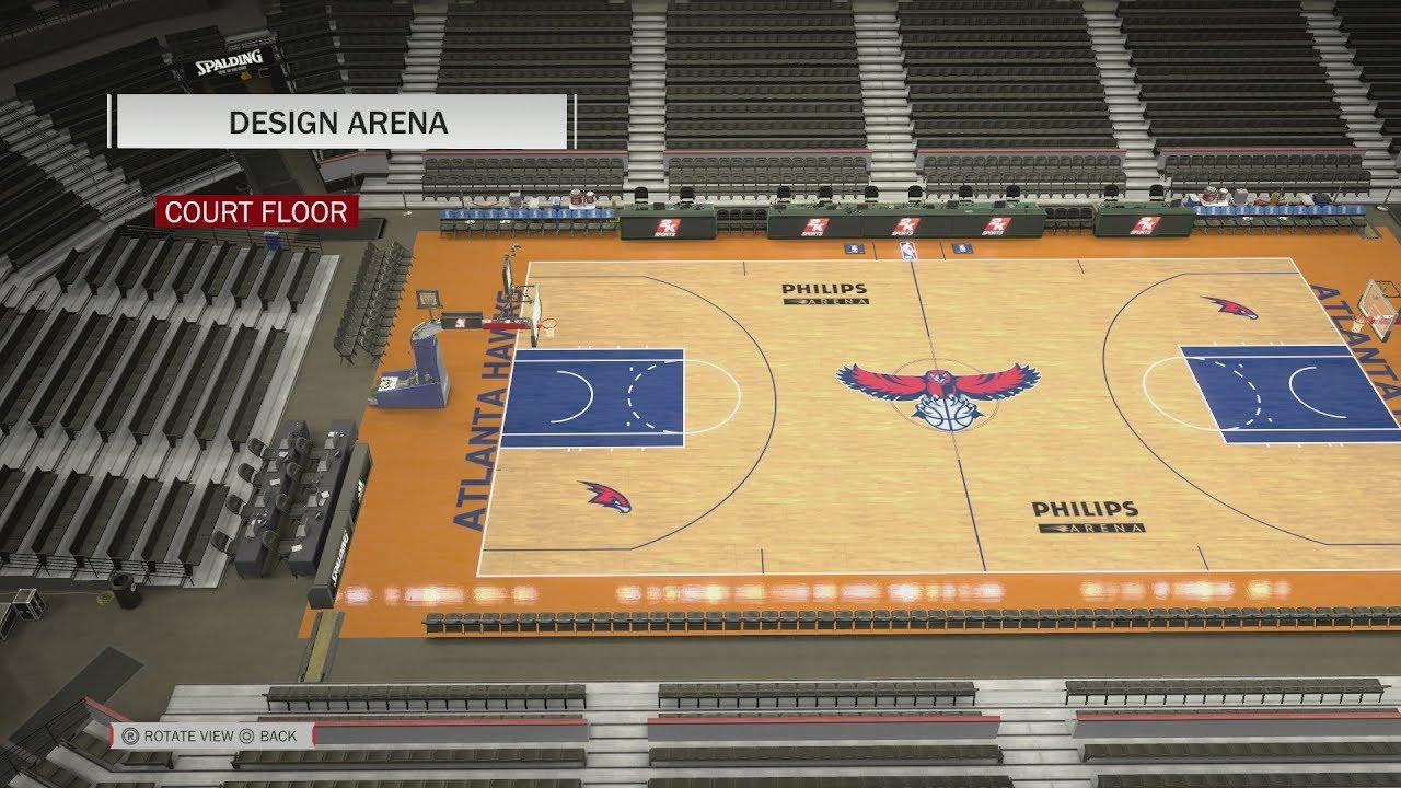 c5f8932f509c NBA 2K18 Arena Creation  Atlanta Hawks 2007 - 2014 (Philips Arena ...