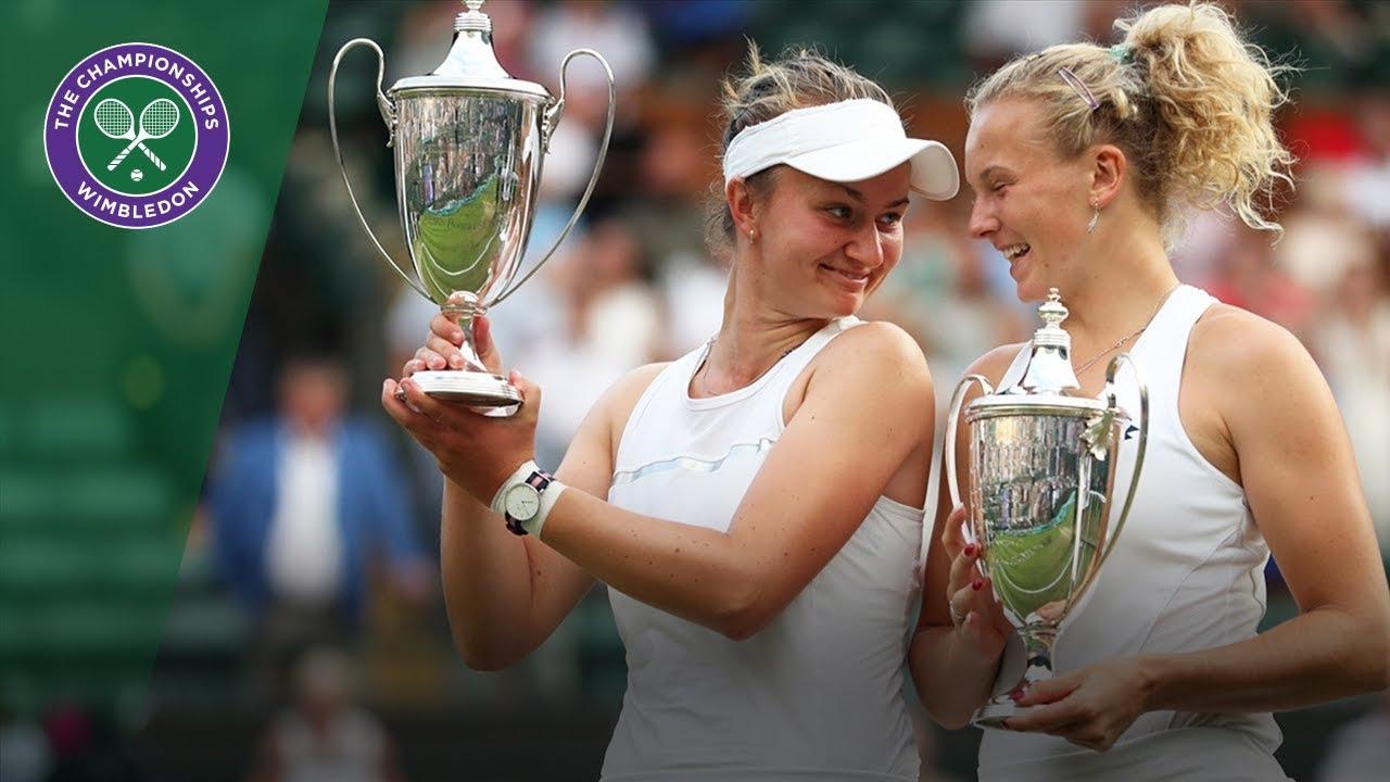 Barbora Krejcikova and Katerina Siniakova win historic Wimbledon double