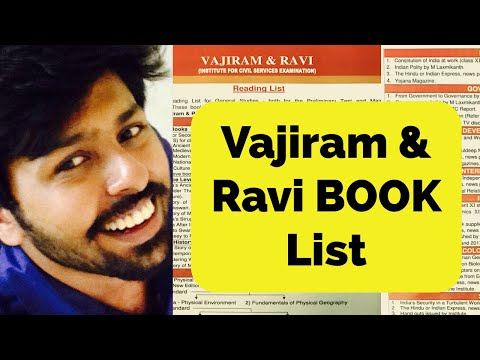 🔥🔥🔥🔥🔥Vajiram and Ravi Recommended book list for UPSC PRELIMS