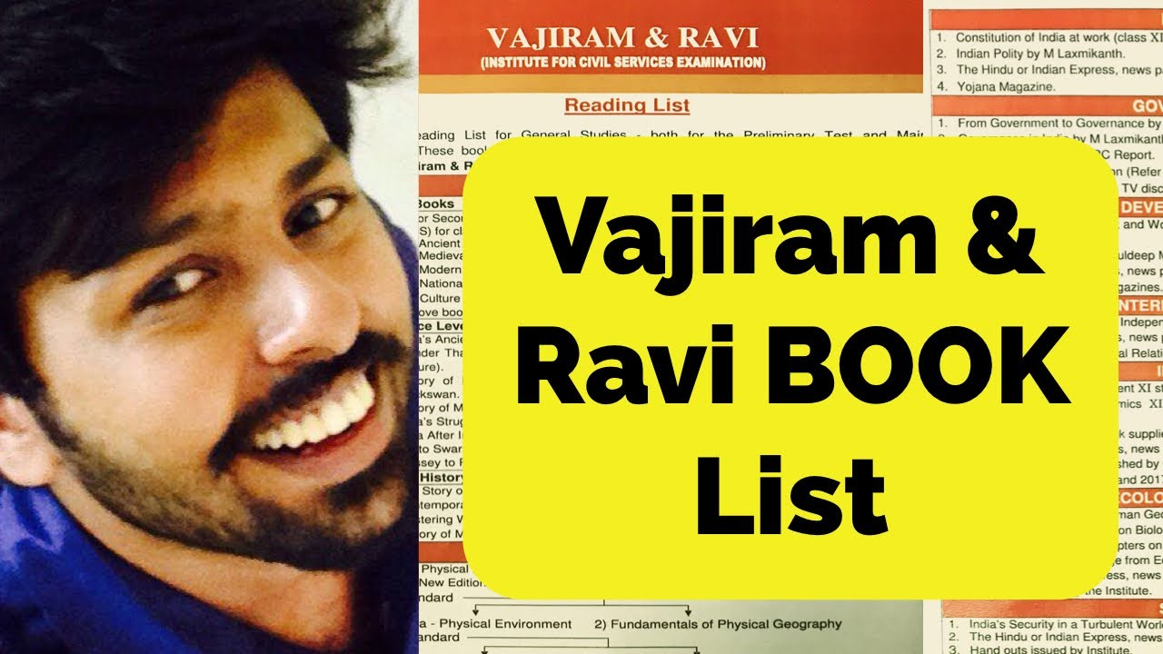 🔥🔥🔥🔥🔥Vajiram and Ravi Recommended book list for UPSC PRELIMS & MAINS  IAS EXAM Aspirants 2019