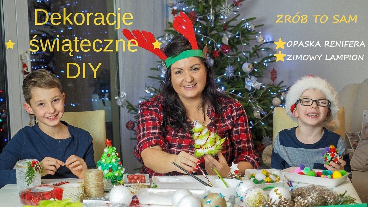 Dekoracje świąteczne Z Pepco Opaska Renifera Zimowy Lampion Diy