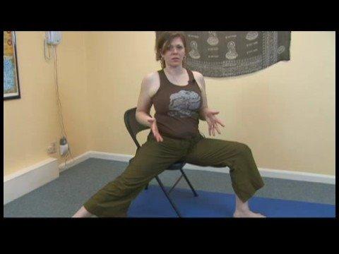 Chair Yoga : Chair Yoga: Warrior II Pose