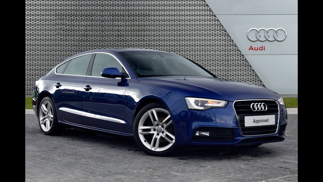 audi a5 sportback tdi s line blue 2014 youtube. Black Bedroom Furniture Sets. Home Design Ideas
