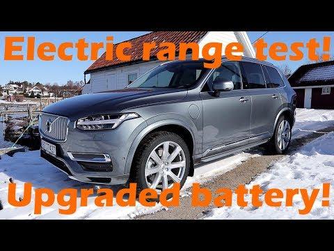 "2018 Volvo XC90 T8 Electric Range Test! ""Hypermiling it"""