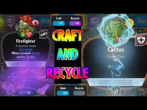 Plants vs. Zombies: Heroes - Craft and Recycle feature