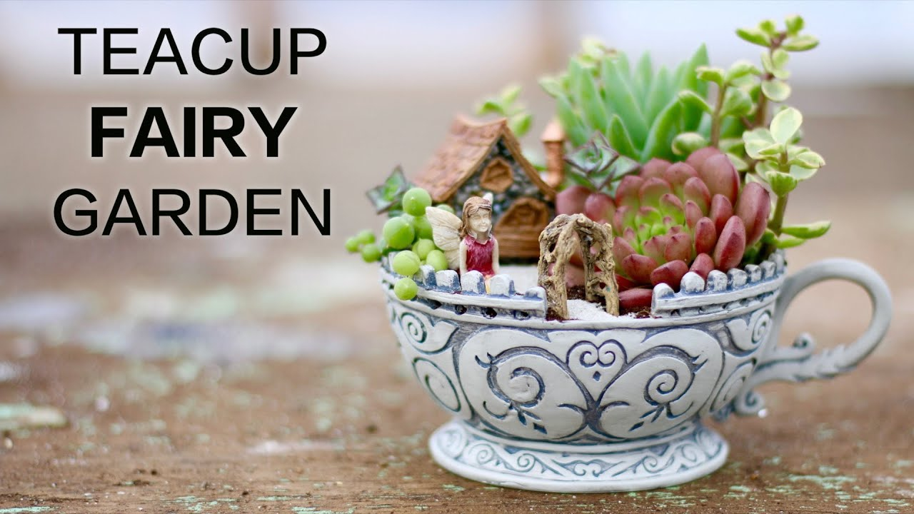 Teacup Fairy Garden   YouTube