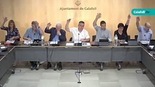 Ajuntament de Calafell: sessió plenària ordinària, 4 de juny de 2018