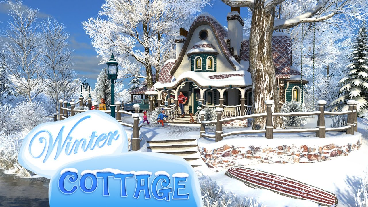 Winter Cottage 3d Live Wallpaper And Screensaver Youtube