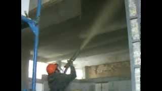 Concrete Ceiling Repair / Parking Garage Repair with REED LOVA Gunite Machine