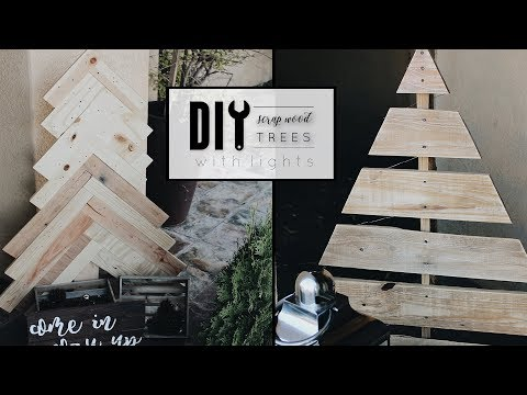 DIY Wood Christmas Trees with Lights