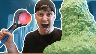 GIANT 1000 DEGREE METAL BALL vs SLIME EXPERIMENT (MASSIVE EXPLOSION)
