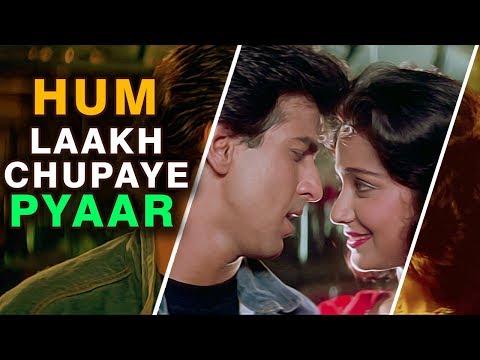 Hum Lakh Chupaye Pyar Magar  4k Video Song  Jaan Tere Naam Kumar Sanu, Asha Bhosle