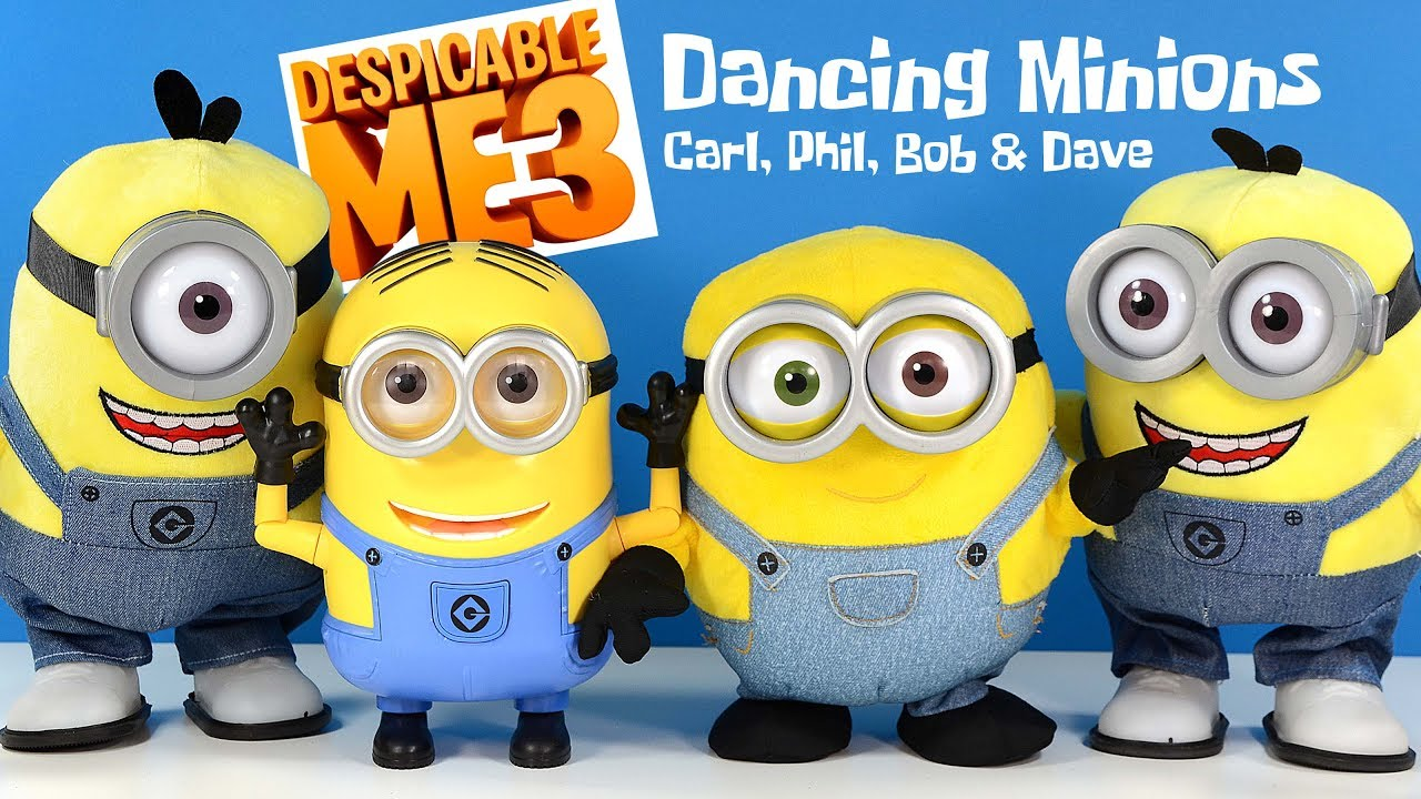 Despicable Me 3 Minions Dancing & Singing Carl Phil Bob ...