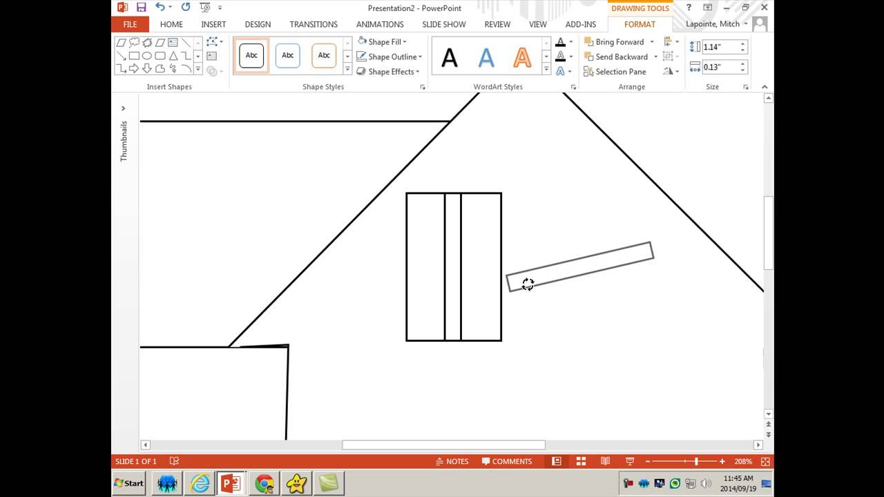 how to draw a house in ms word or powerpoint