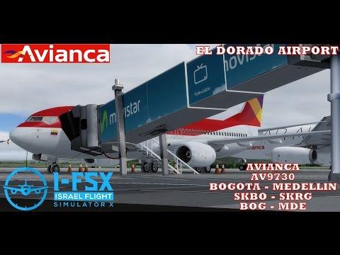 P3D V3 BOGOTA - MEDELLINI AVIANCA PMDG 737-800