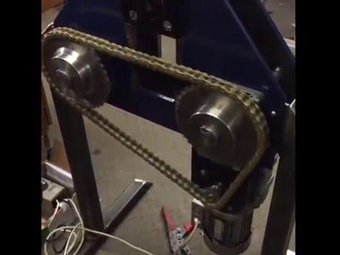 Motorised ring roller homemade