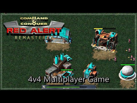 Command & Conquer:Remastered Collection │Red Alert 4v4 Mutliplayer Game | Quick And Boring Game | |