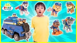 Ryan and the PAW Patrol Pups play HIDE AND SEEK to go on an Ultimate Rescue!