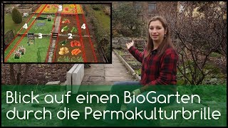 Blick auf einen Bio-Garten durch die Permakulturbrille