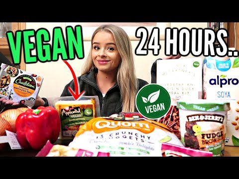 I ONLY ATE *VEGAN* FOOD FOR 24 HOURS..