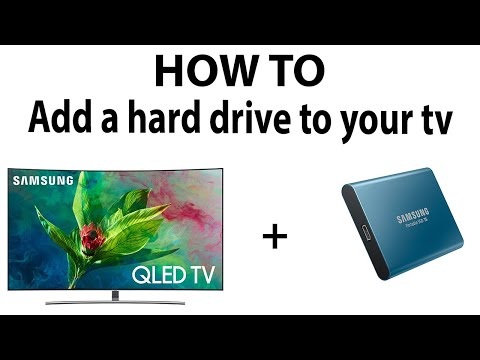 HOW TO: Add a external hard drive to your TV
