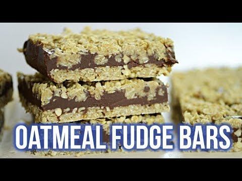 No Bake Oatmeal Fudge Bars