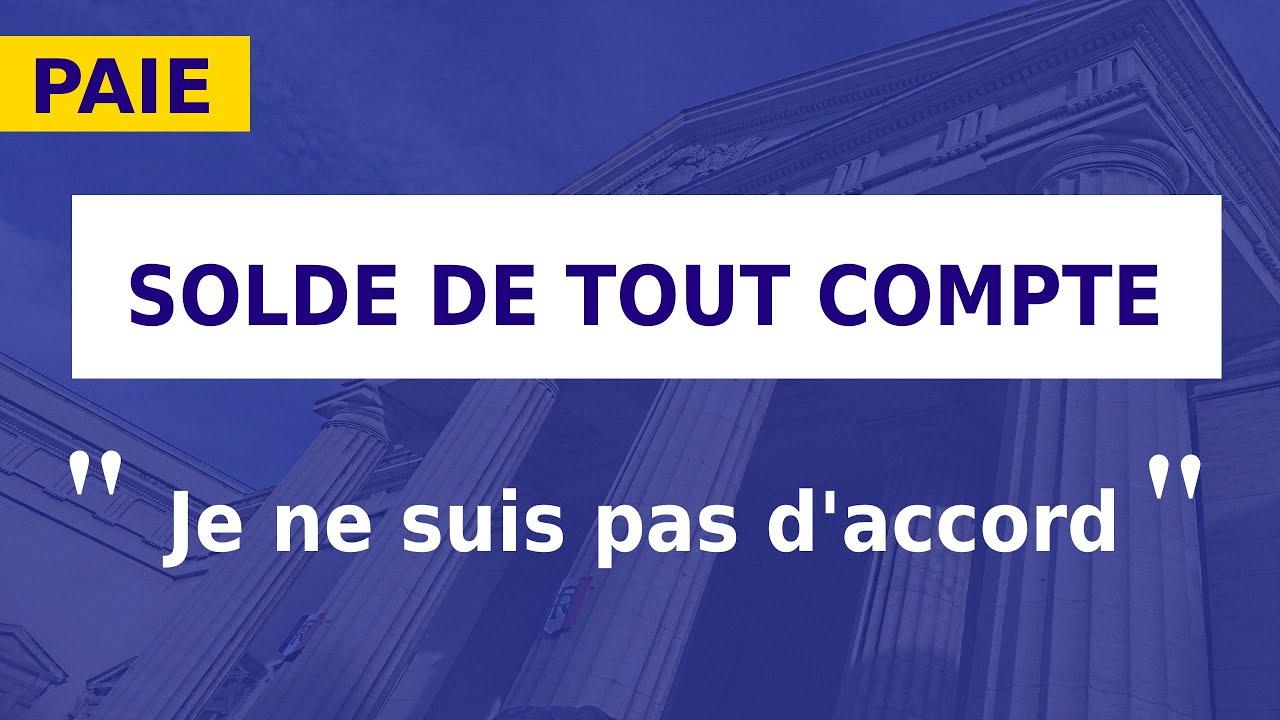 Solde De Tout Compte Signature Contestation