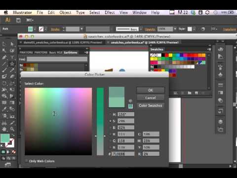 photoshop cs6 how to change color swatch