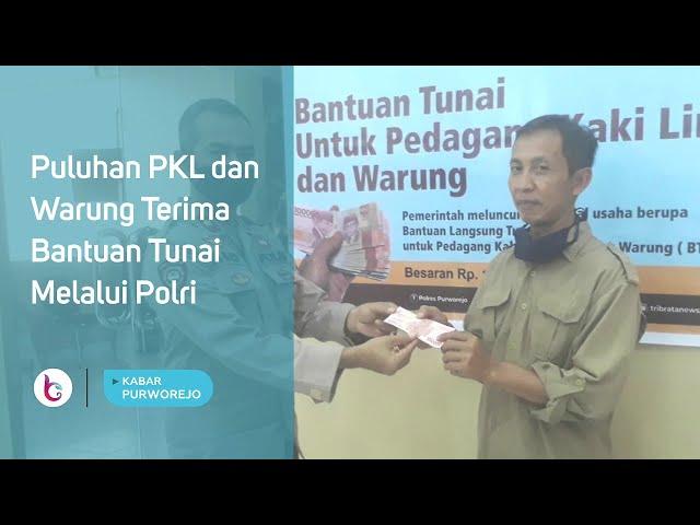 Puluhan PKL dan Warung Terima Bantuan Tunai Melalui Polri