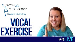 Power for Parkinson's Wednesday Vocal Exercise - Live Streaming Day 148