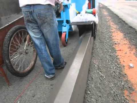 Ht400 Road Curbing Machine Youtube