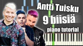 Antti Tuisku - 9 suosittua biisiä   PIANO TUTORIAL