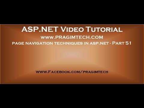 Different page navigation techniques in aspt 51